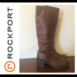 Rockport Leather Tall Boots size 7.5